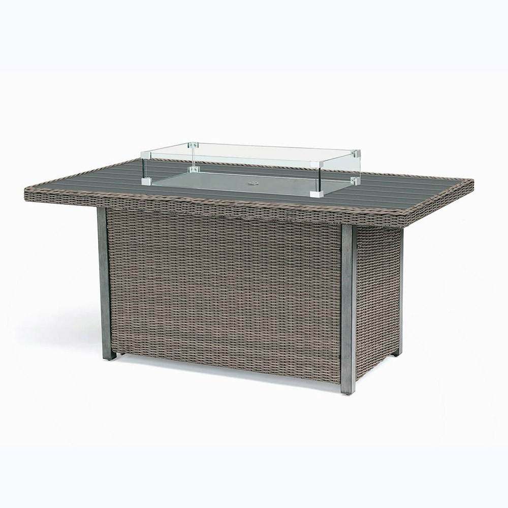 Kettler Palma Fire Pit Table with Aluminium Top - Rattan