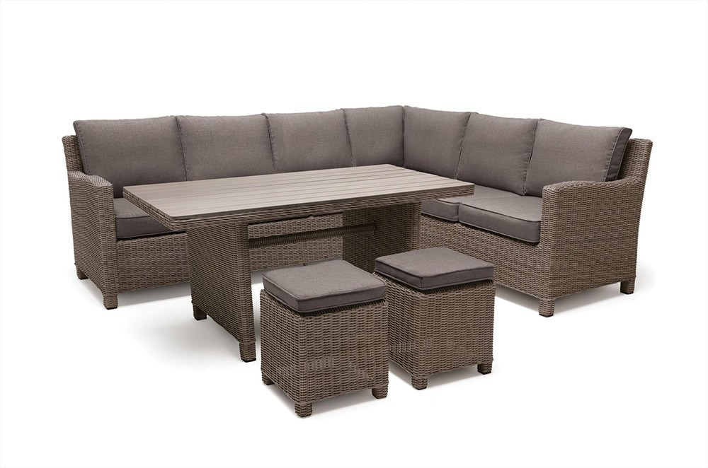 Kettler Palma Left Hand Dining Corner Set with Polywood Table - Rattan