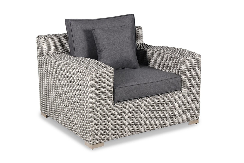 Kettler Palma Luxe Pair of Armchairs - White Wash