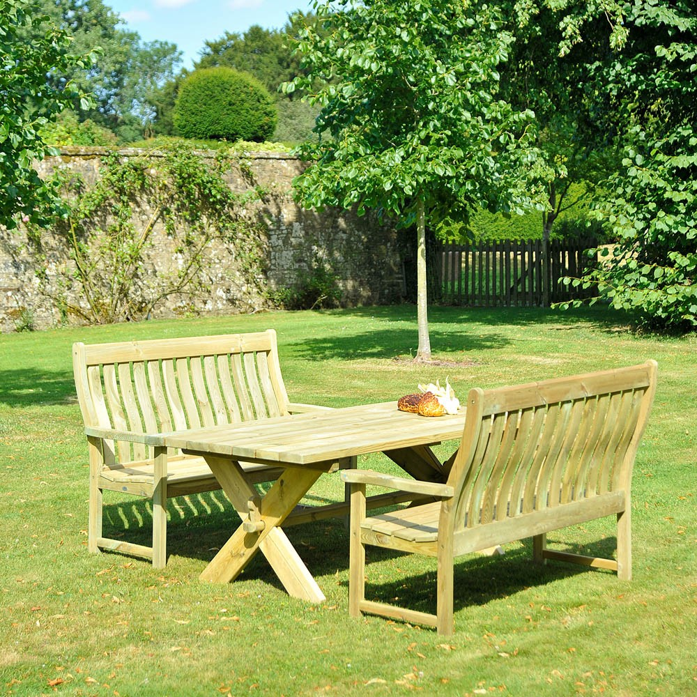 Alexander Rose Pine Farmers Bench Set