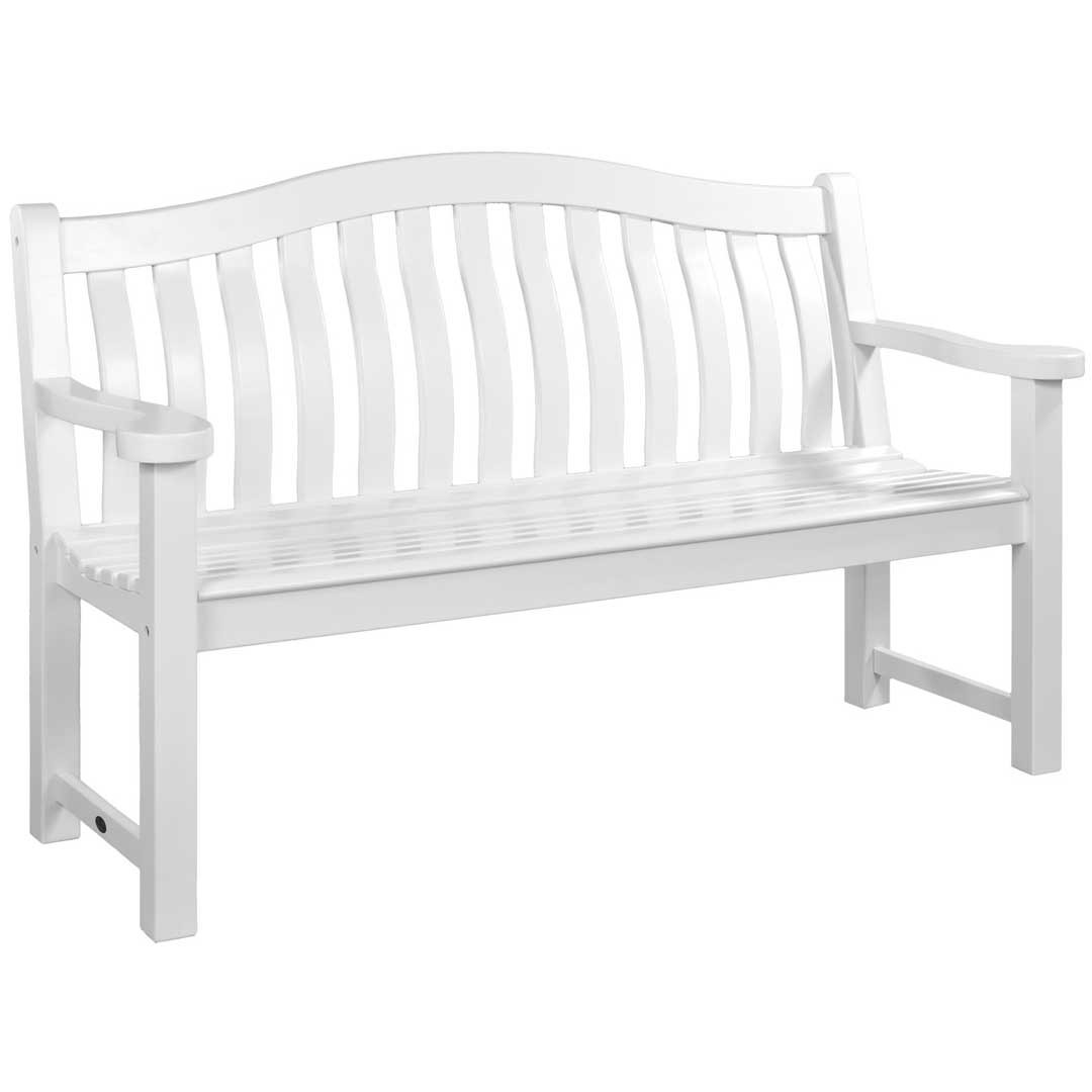Alexander Rose White Painted Turnberry Bench 5Ft