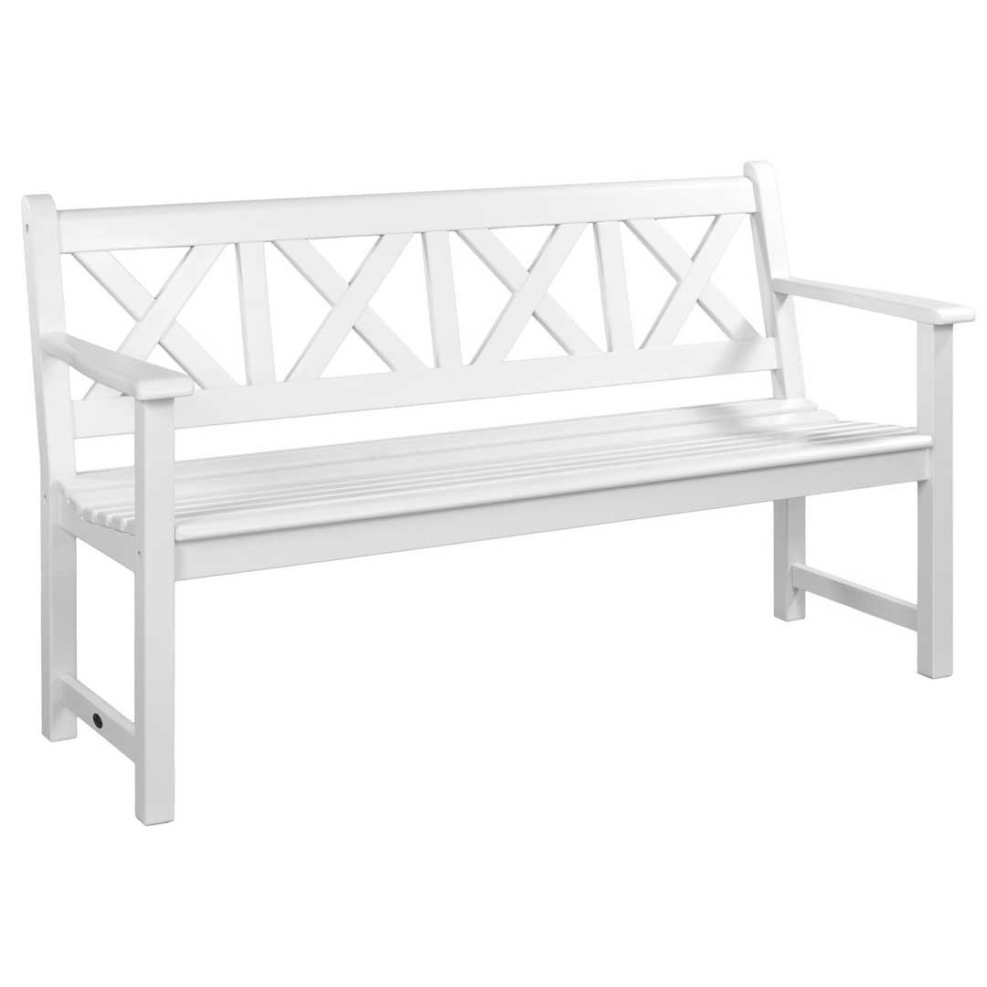 Alexander Rose White Painted Drachmann Bench 5Ft