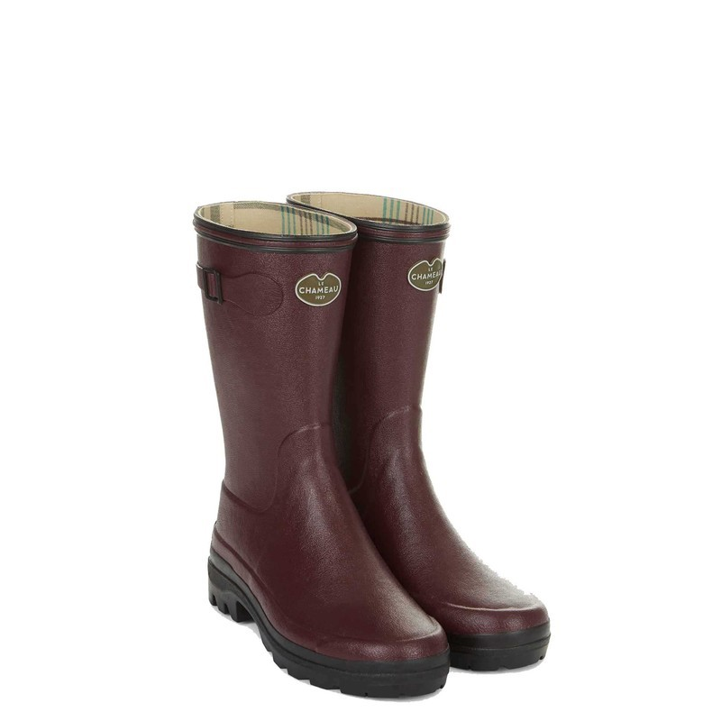 Le Chameau Womens Giverny Low Boot - Cherry Size 8 UK