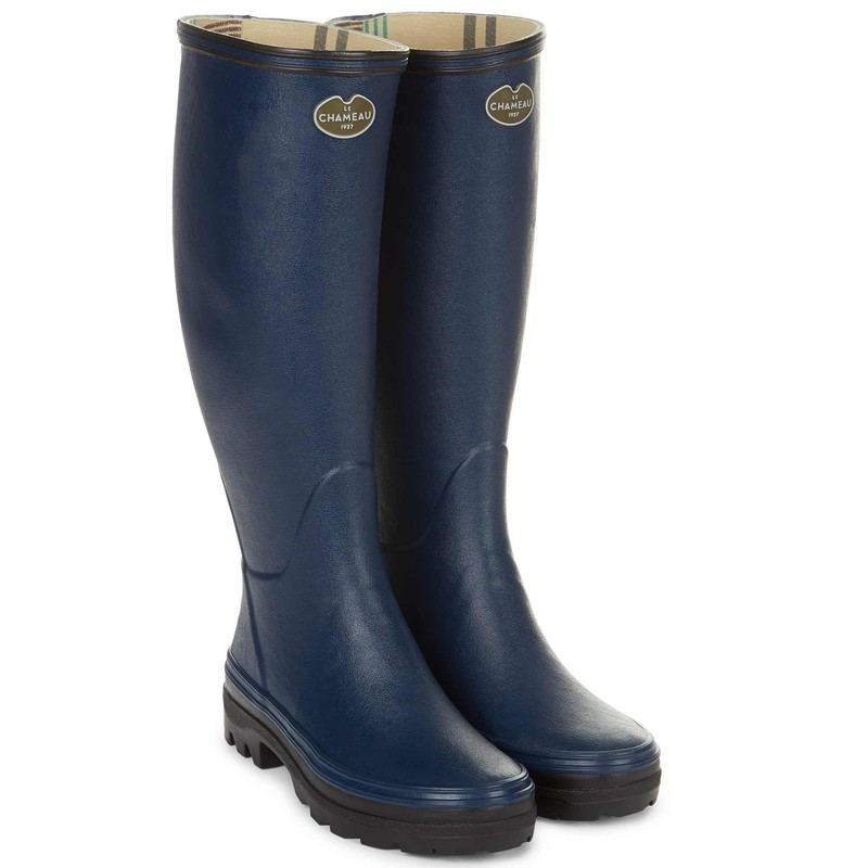 Le Chameau Womens Giverny Boot - Marine