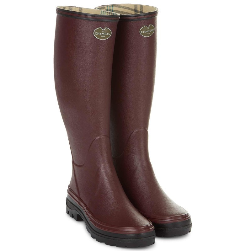Le Chameau Womens Giverny Boot - Cherry Size 8 UK