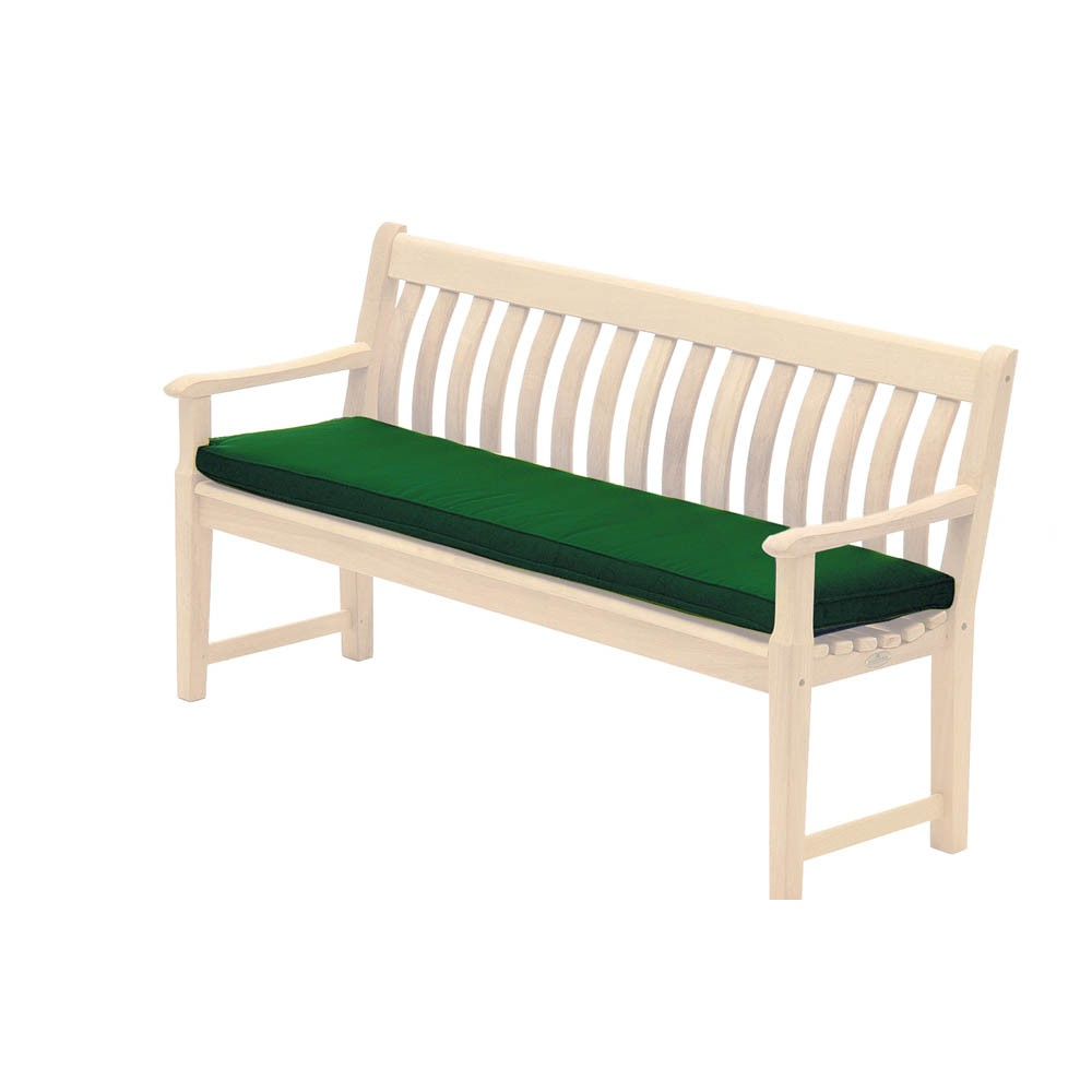 Alexander Rose Olefin 5Ft Bench Cushion Green
