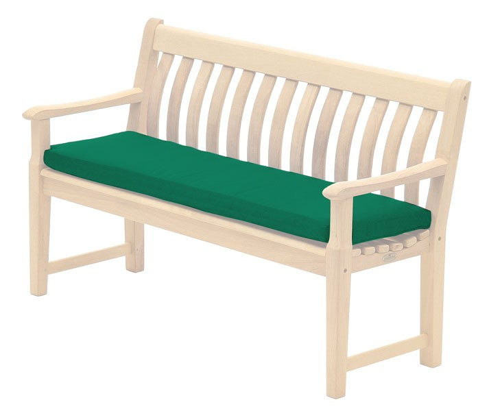 Alexander Rose Polyester 4ft Bench Cushion - Green