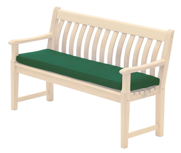Alexander Rose Polyester 5Ft Bench Cushion Green