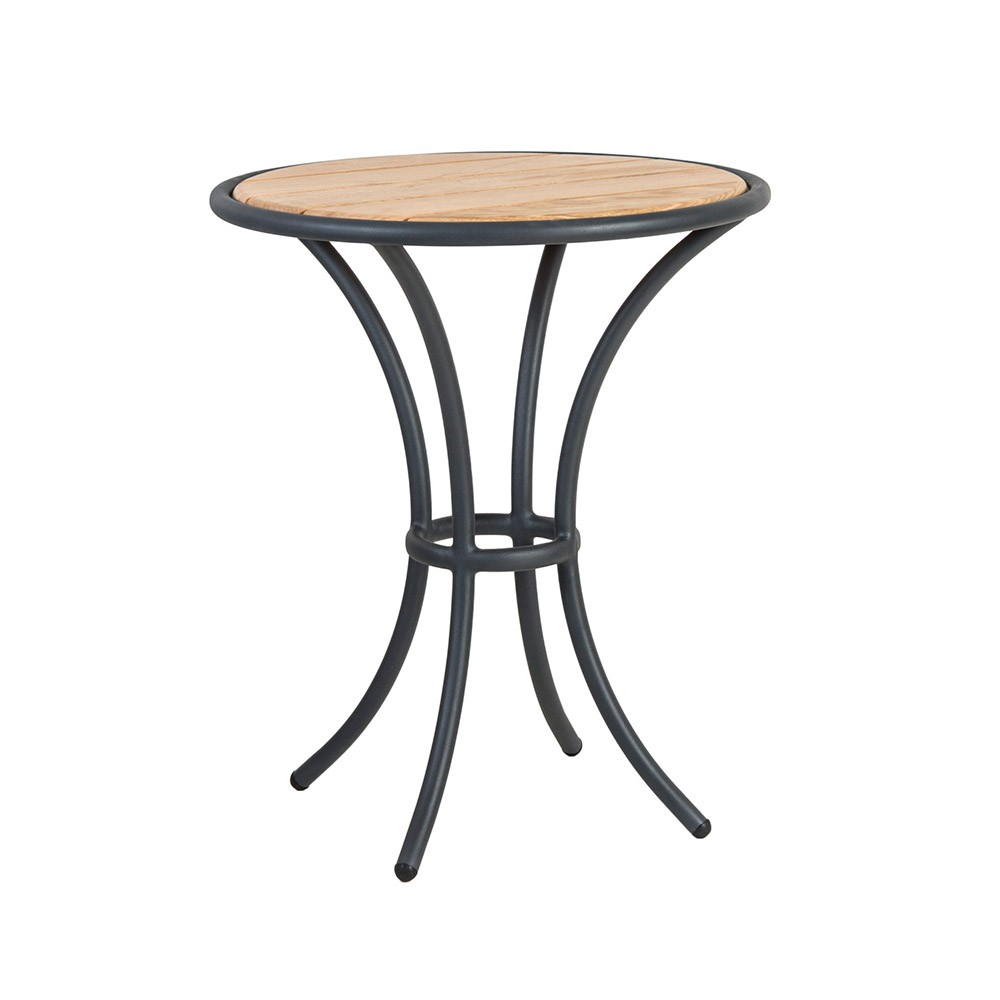 Alexander Rose Cordial Grey Bistro Table - Roble Top