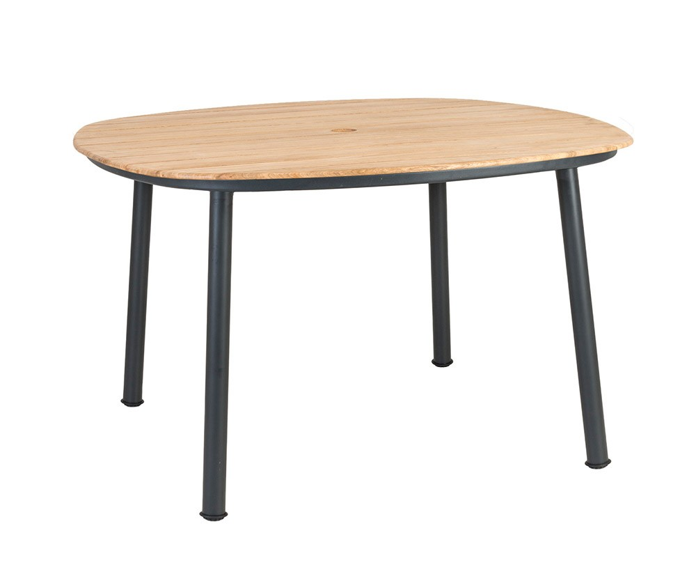 Alexander Rose Cordial Grey Dining Table 120 x 120cm - Roble Top