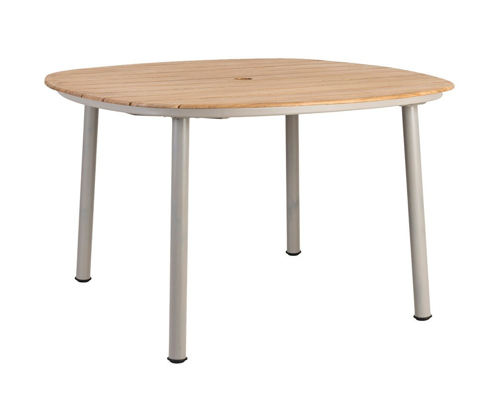Alexander Rose Cordial Beige Dining Table 120 x 120cm - Roble Top