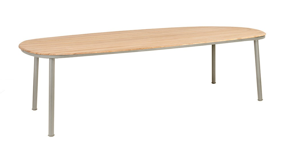 Alexander Rose Cordial Beige Dining Table 270 x 120cm - Roble Top