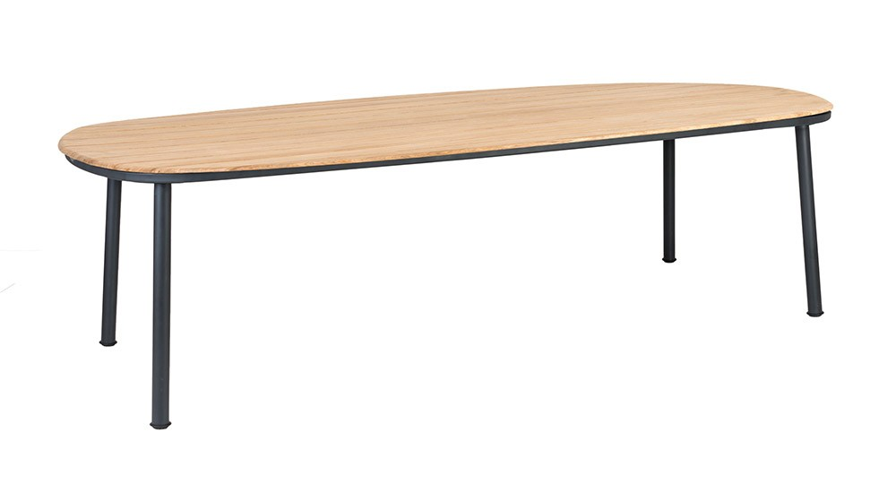 Alexander Rose Cordial Grey Dining Table 270 x 120cm - Roble Top