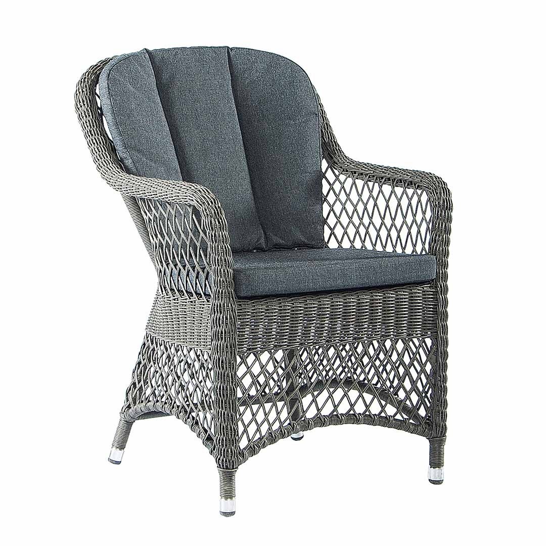 Alexander Rose Monte Carlo Open Weave Chair W. Cush