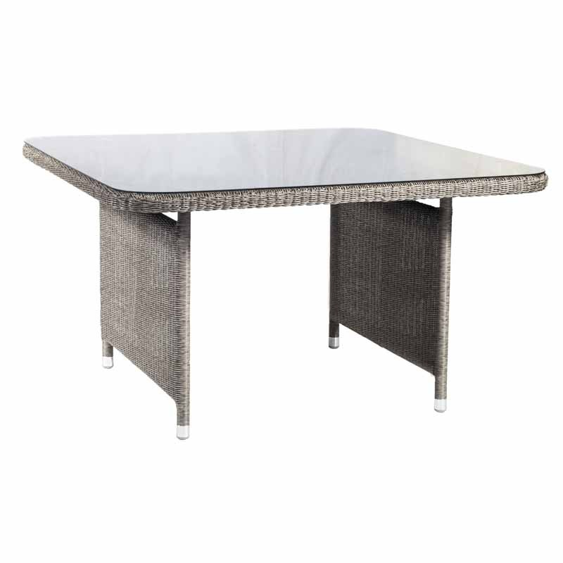 Alexander Rose Monte Carlo Dining Table 1.3Mx1.3M W. Glass