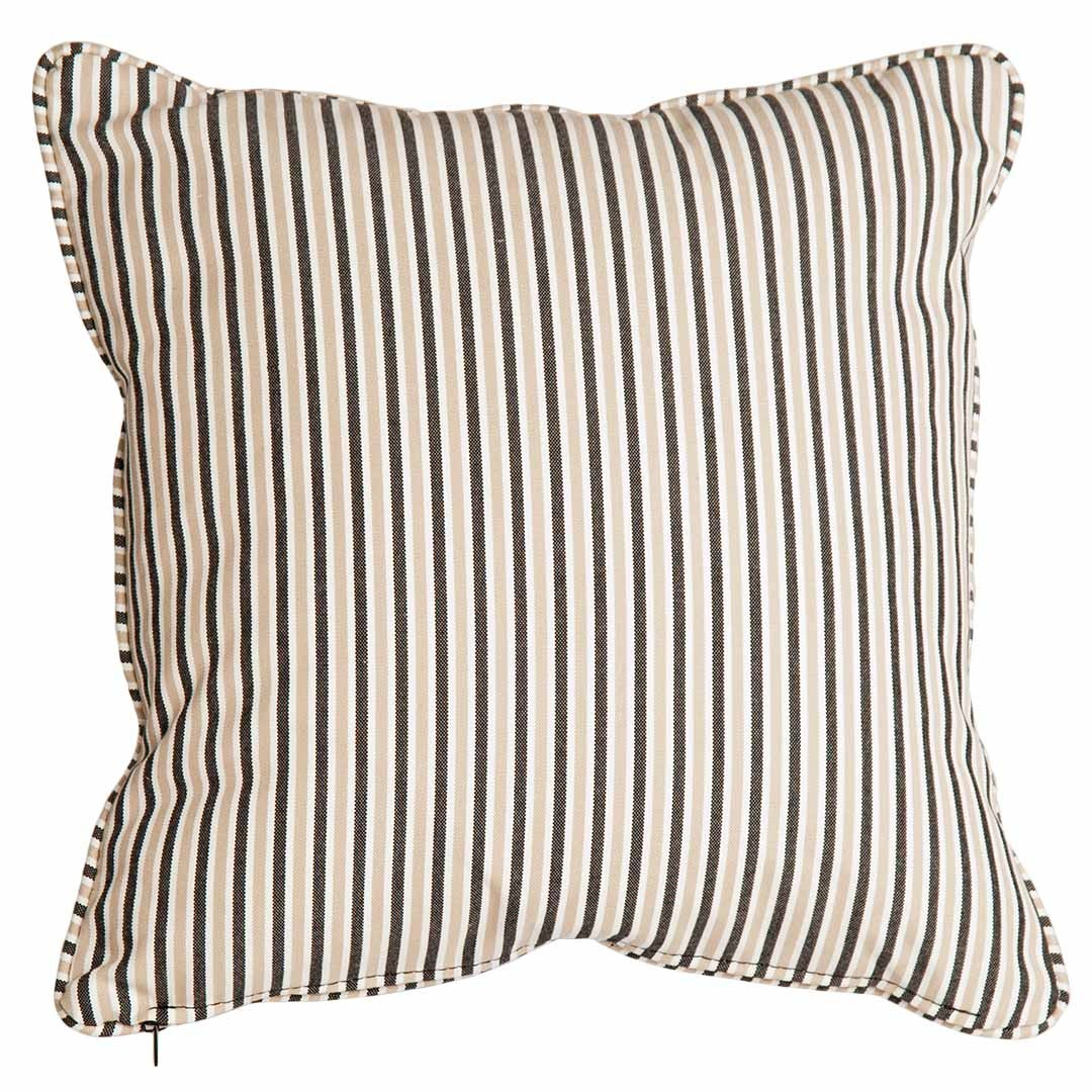 Alexander Rose Polyester Scatter Cushion - Charcoal Stripe