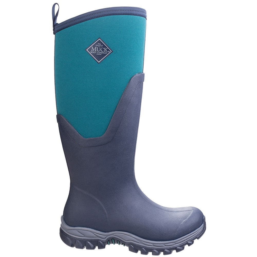 Muck Boot Womens Arctic Sport II Tall Navy Spruce Size 7 UK