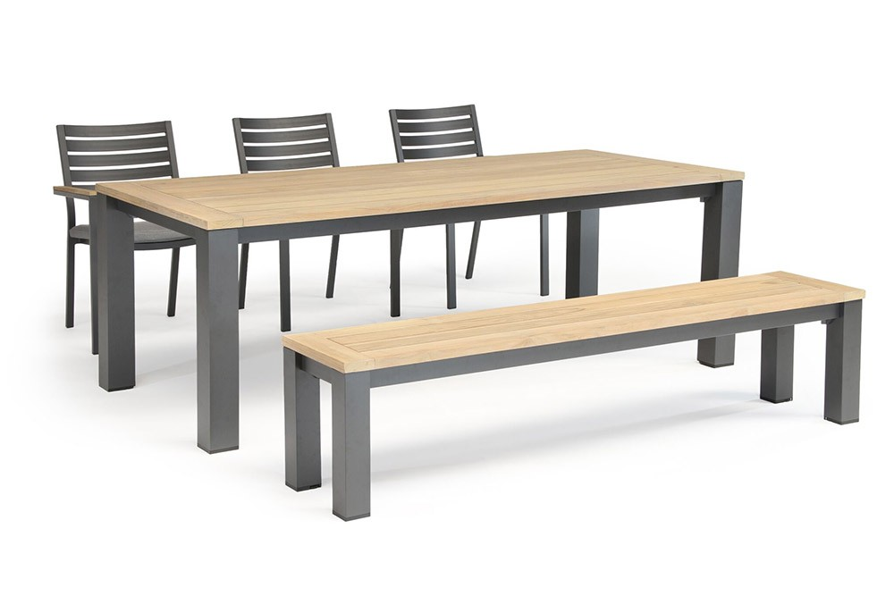 Kettler Elba 6 Seat Dining Set with Chairs and Bench