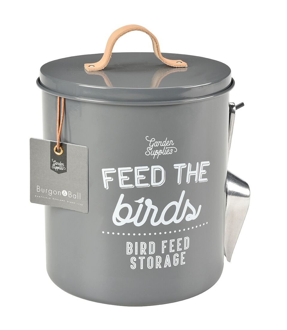 Burgon and Ball Feed the Birds Food Tin - Charcoal