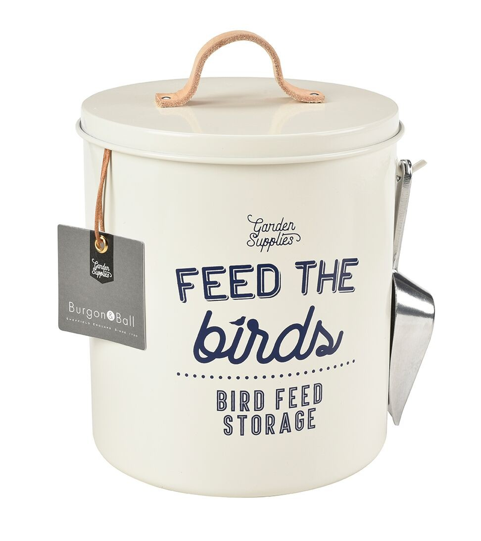 Burgon and Ball Feed the Birds Food Tin - Stone