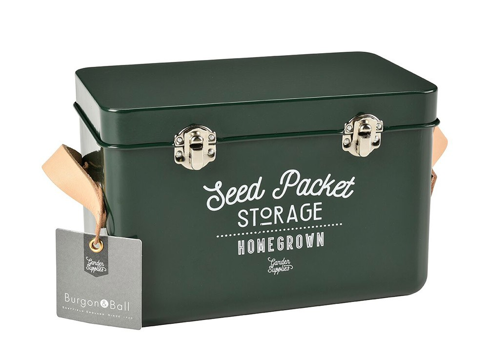 Burgon and Ball Seed Packets Storage Tin - Frog