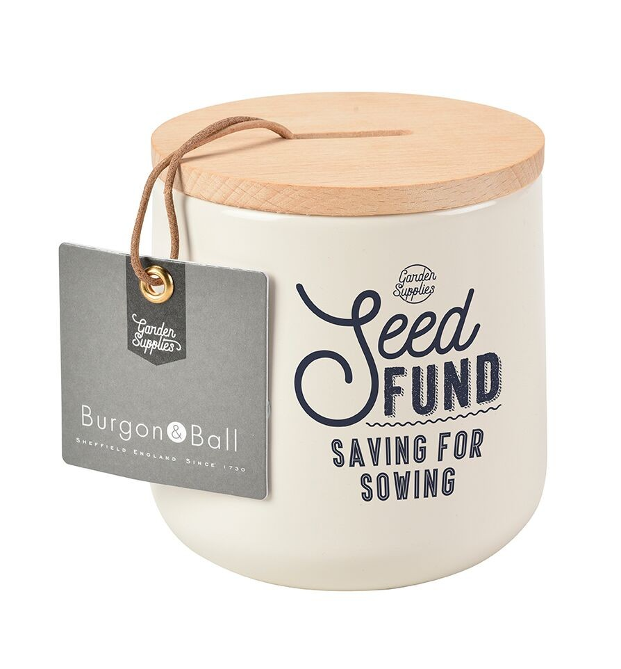 Burgon and Ball Seed Fund Money Box - Stone