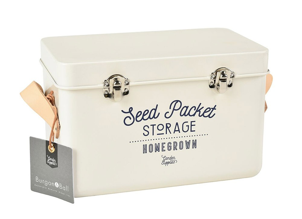 Burgon and Ball Seed Packets Storage Tin - Stone