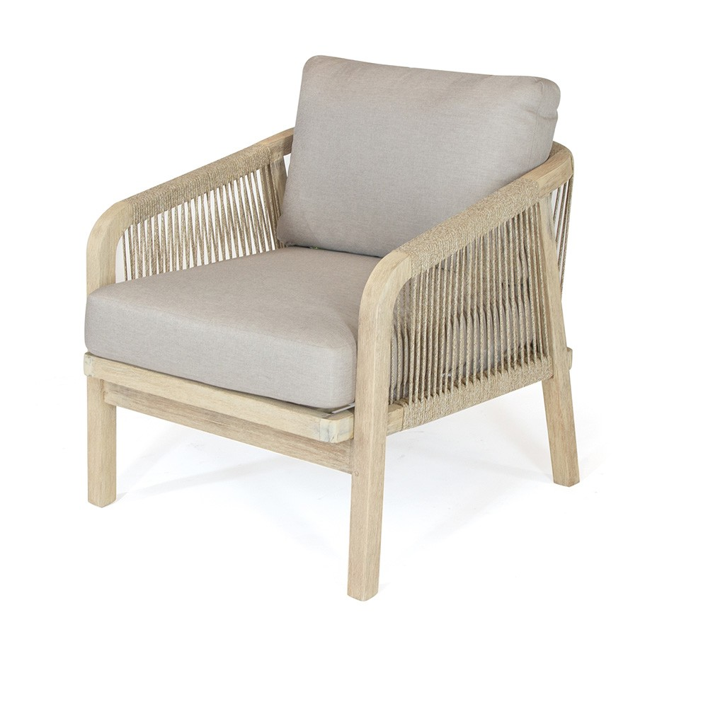 Kettler Cora Pair of Rope Lounge Armchairs