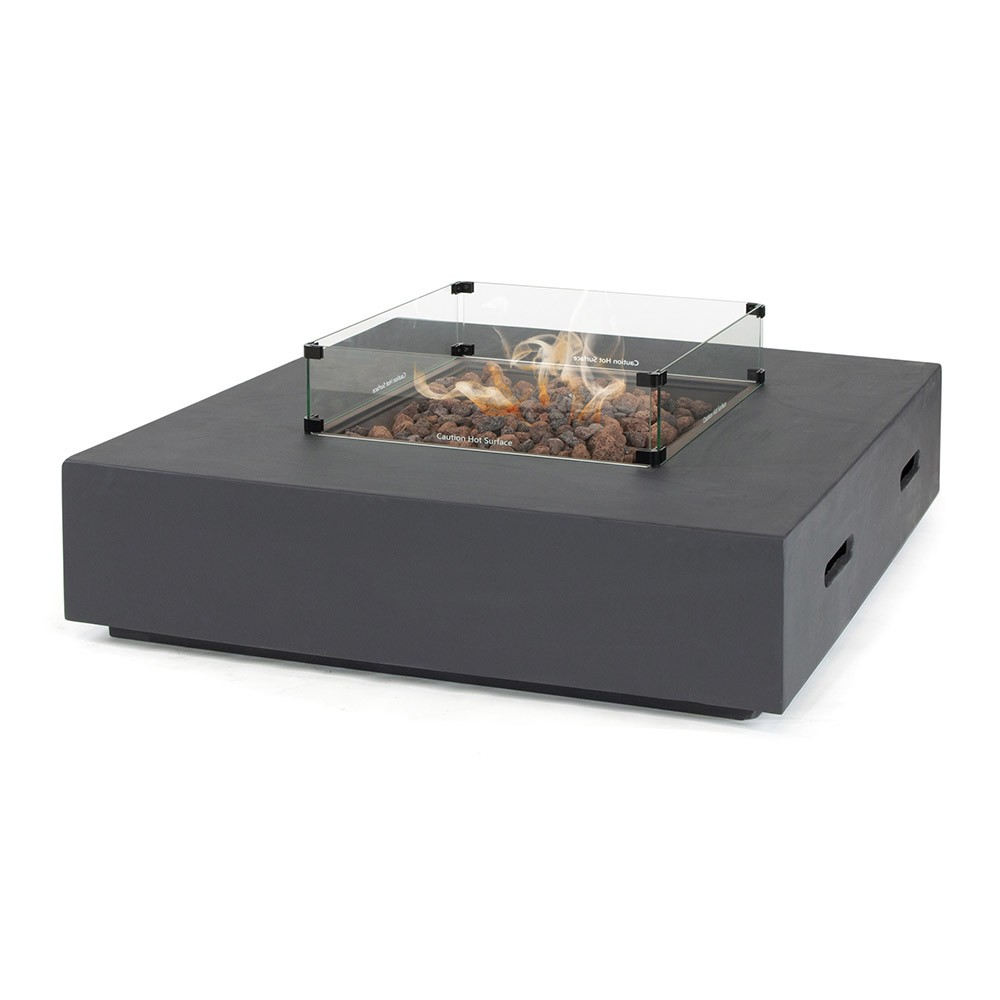 Kettler Kalos Universal Fire Pit Coffee Table 105cm with Glass Surround