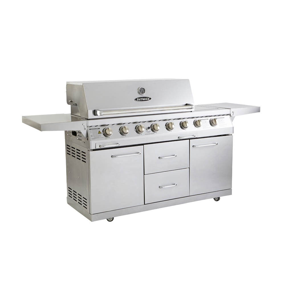 Outback Signature Stainless Steel 6 Burner Gas BBQ