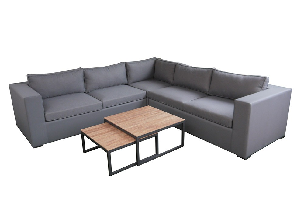 LG Outdoor Stockholm Corner Sofa Set with Coffee Tables