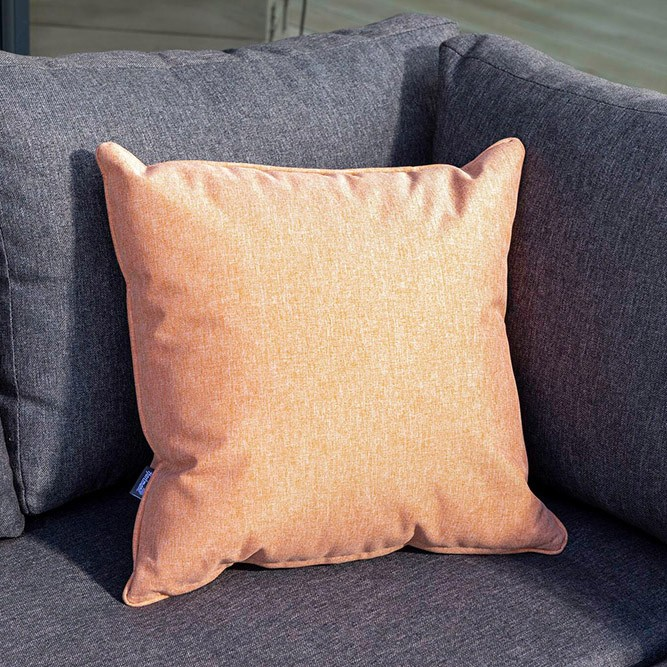 Hartman Square Weatherproof Scatter Cushion - Salmon