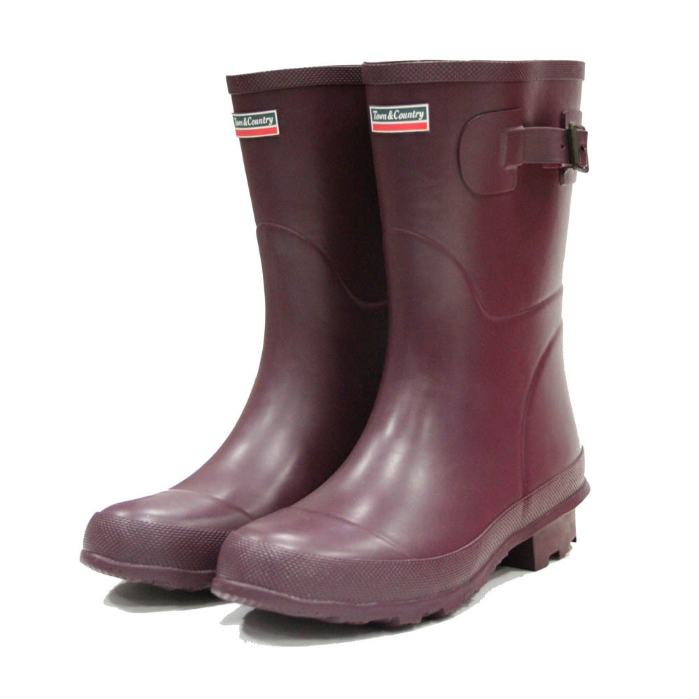 Town and Country Bradgate Aubergine Wellies - Size 4 UK