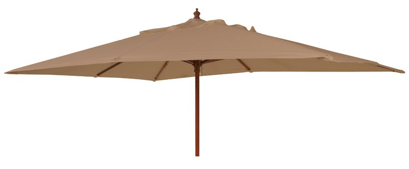 Alexander Rose Hardwood  3.0X2.0M Rect Parasol W.Pulley (Fsc) Taupe