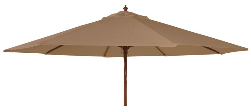 Alexander Rose Hardwood 2.7M Round Parasol W.Pulley (Fsc) Taupe