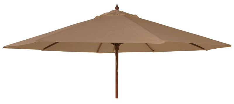 Alexander Rose Hardwood 3.0M Round Parasol W.Pulley (Fsc) Taupe