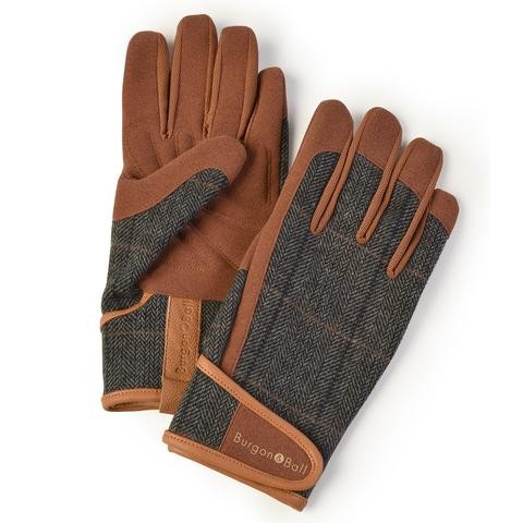 Burgon and Ball Dig The Glove Gardening Gloves - Tweed L/XL