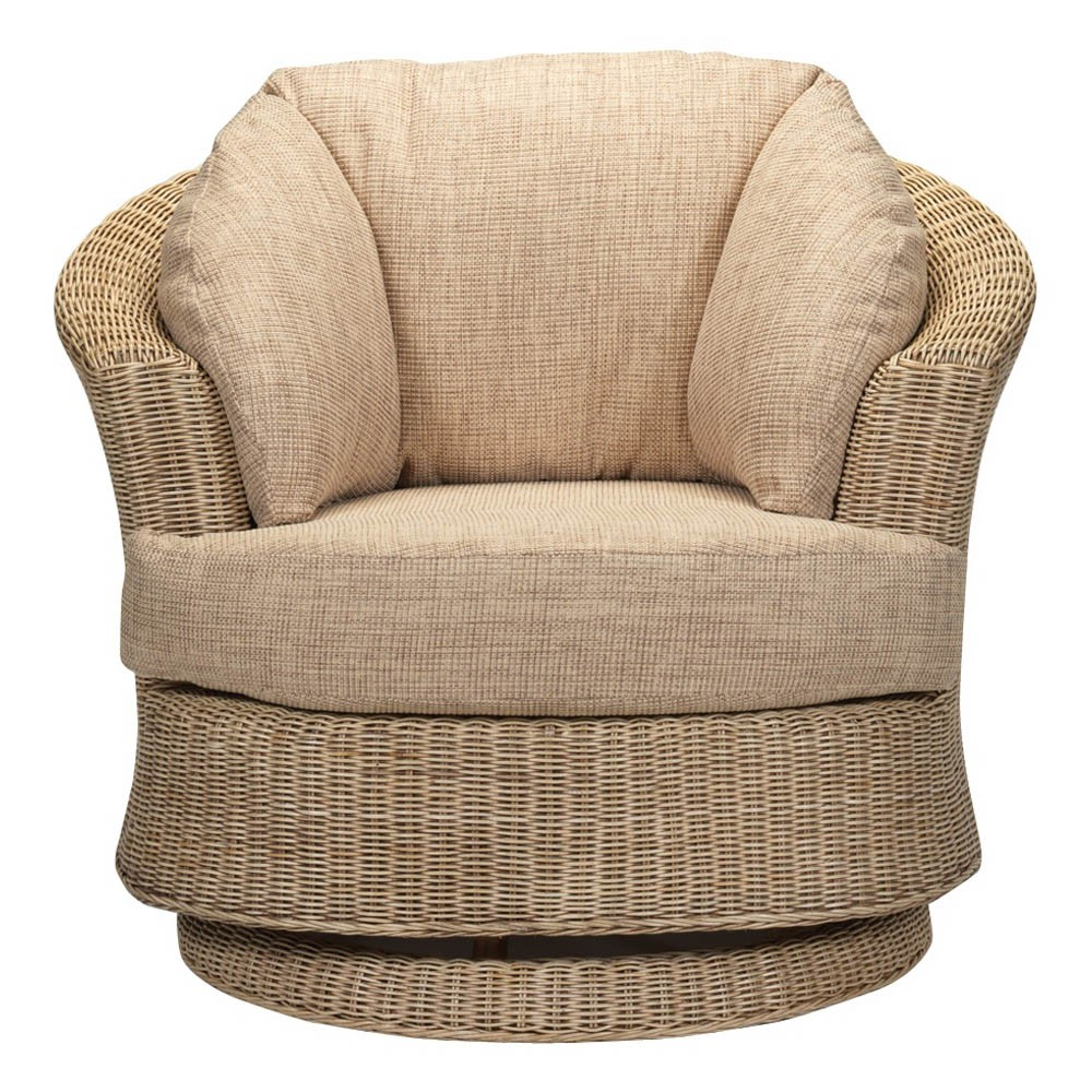 Desser Corsica Lyon Natural Swivel Chair and Cushions