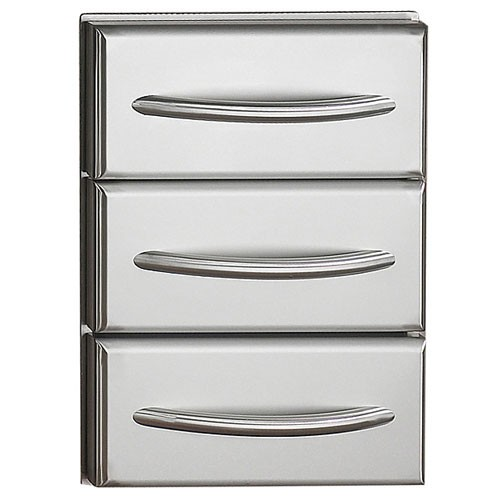 Napoleon Flat Stainless Steel Built-in Triple Drawer Kit