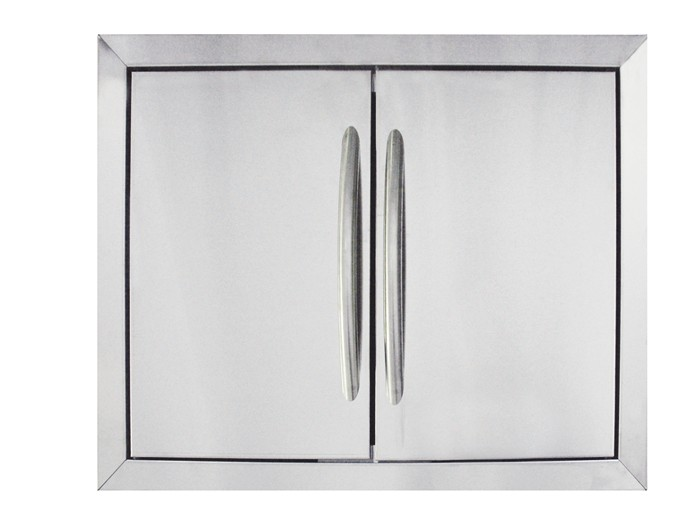 Napoleon Large Flat Stainless Steel Built-In Door Set