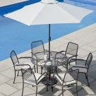 Alexander Rose Portofino 6 Seat Round Set with Parasol