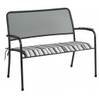 Alexander Rose Portofino Bench Cushion - Charcoal Stripe
