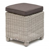 Kettler Palma Stool with Cushion - White Wash