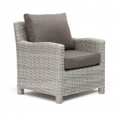 Kettler Palma Armchair with Cushion - White Wash