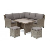 Kettler Palma Mini Corner Set - Rattan - With Glass Table