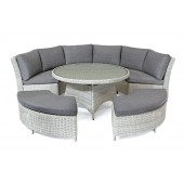 Kettler Palma Casual Dining Round Set - White Wash