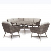 Kettler LaMode Corner Sofa Set with Armchairs and Table
