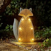 Wood Stone In-Lit Solar Fox by Smart Garden