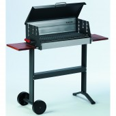 Dancook 5600 Large Box BBQ with Lid and Eucalyptus Side Tables