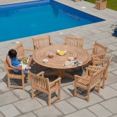 Alexander Rose Roble 8 Seat Dining Set